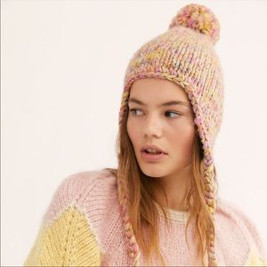 New Free People Fox Trot Knit Trapper Hat